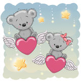 Cute Lovers Bears Stock Photography