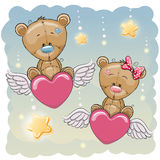 Cute Lovers Bears Stock Images