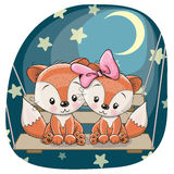Cute Lovers Foxes Royalty Free Stock Photography