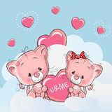 Cute Lovers Kittens Royalty Free Stock Image