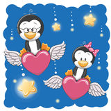 Cute Lovers Penguins Royalty Free Stock Photography