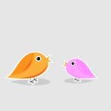 Cute Loving Birds Stock Photography