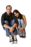 Cute Loving Couple. Adorable and cute loving diverse couple royalty free stock image