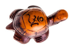 Cute lucky charm wooden turtle Royalty Free Stock Photo