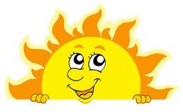 Cute lurking Sun. Vector illustration Stock Images