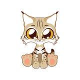 Cute lynx vector illustration art Royalty Free Stock Image