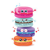 Cute macaroon doodles. Vector food illustration Royalty Free Stock Photography
