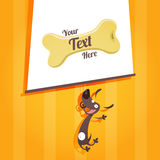Cute mad dog and text field Stock Photography