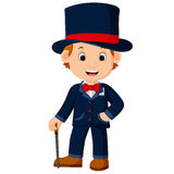Cute magician cartoon. Illustration of cute magician cartoon Stock Photo