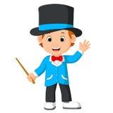 Cute magician cartoon. Illustration of cute magician cartoon Stock Photography
