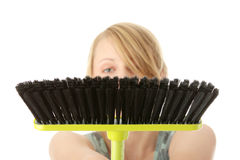 Cute maid woman cleaner Stock Photography