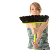 Cute maid woman cleaner Royalty Free Stock Photography
