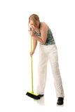 Cute maid woman cleaner Royalty Free Stock Photos