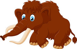 Cute mammoth cartoon Royalty Free Stock Photos