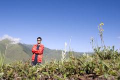 Cute man  in nature Royalty Free Stock Photos
