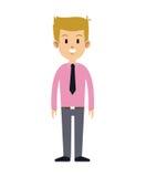 Cute man necktie pink shirt attractive Stock Photo