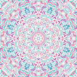 Cute mandala pattern. Ethnic seamless vector ornamental. Geometric tracery print Royalty Free Stock Photo