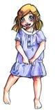 Cute manga girl Royalty Free Stock Photos
