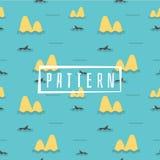 Cute Marine pattern for fabric, vector illustration