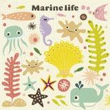 Cute marinelife Vector Illustration. Vector illustration of cute marinelife design royalty free illustration