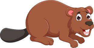 Cute marmot cartoon crawl with smile. Pict of cute marmot cartoon crawl with smile Royalty Free Stock Image