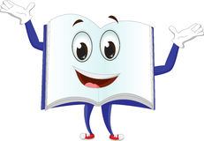 Cute mascot characters of books. Vector illustration of cute mascot characters of books isolated on white Stock Photos