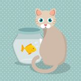 Cute mascots pet shop icons. Vector illustration design Royalty Free Stock Images