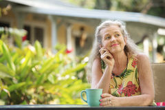 Cute Mature Female Wondering Stock Photography
