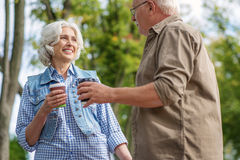 Cute mature loving couple enjoying time together Royalty Free Stock Photo