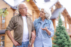 Cute mature married couple walking outdoors Stock Photography