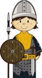 Cute Medieval Soldier Royalty Free Stock Photography