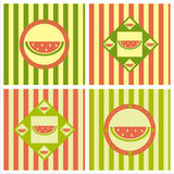 Cute melon backgrounds Royalty Free Stock Photography