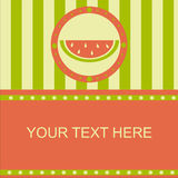 Cute melon frame Stock Images