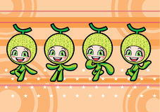 Cute melon girl Royalty Free Stock Photography