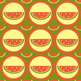 Cute melon pattern Royalty Free Stock Photography