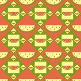 Cute melon pattern Stock Image