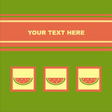 Cute melons card Stock Images