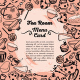 Cute menu card for tea room Stock Photography