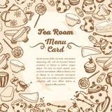 Cute menu card for tea room Stock Image