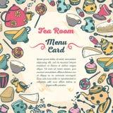Cute menu card for tea room Stock Photos