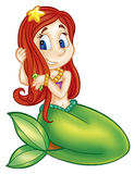 Cute mermaid Stock Images