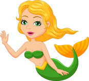 Cute mermaid cartoon Royalty Free Stock Photo