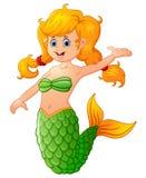 Cute mermaid cartoon Stock Photography