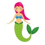 Cute Mermaid character in Cartoon Style. vector illustration Stock Photos