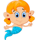 Cute mermaid girl Royalty Free Stock Photos