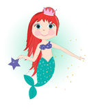 Cute mermaid girl vector Royalty Free Stock Photos