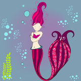 Cute mermaid illustration Stock Photo
