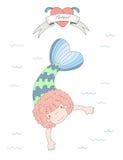 Cute mermaid illustration vector illustration
