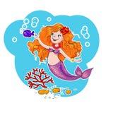 Cute mermaid vector Stock Photos