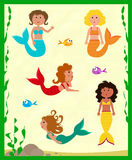 Cute Mermaids Royalty Free Stock Photos